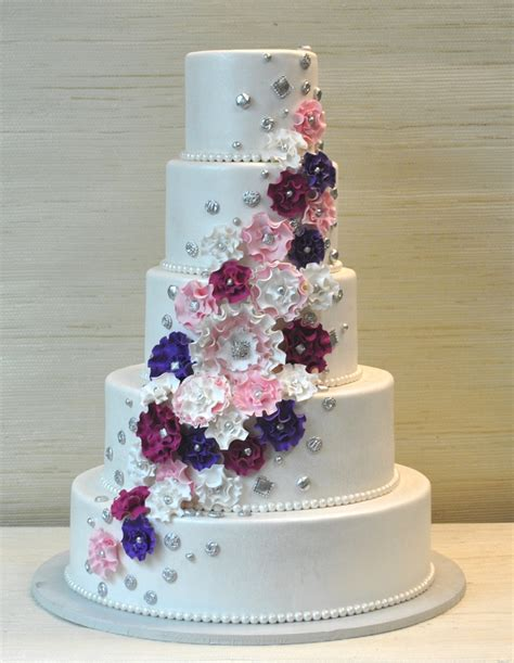 Wedding Cakes With by Extraordinary 5 Tier Wedding Cake With Ruffled Gum