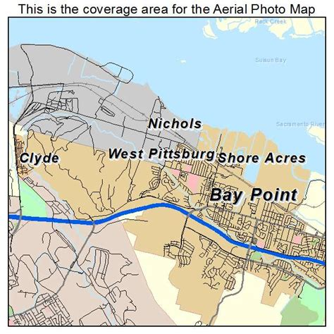map of bay california aerial photography map of bay point ca california