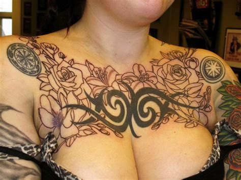 womens chest tattoos 35 most amazing chest tattoos designs superb chest