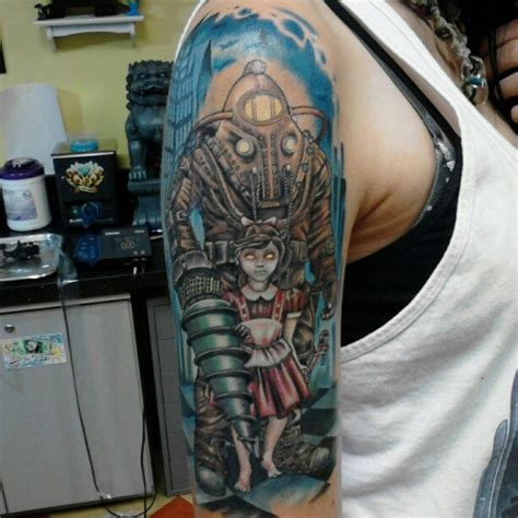 tattoo body shock bioshock bigdaddy tattoo art the body pinterest