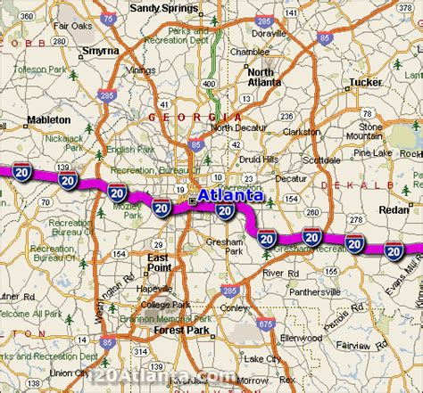 atlanta on the map atlanta map travel map vacations travelsfinders
