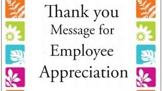 Appreciation Message Employees thank you message for employee appreciation