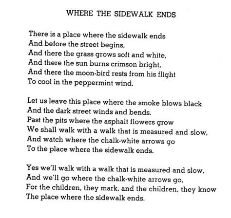 libro where the sidewalk ends where the sidewalk ends quotes shel silverstein poem poetry books poemas paz