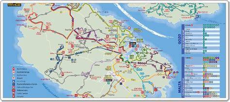 0004490487 carte touristique malta and visiter malte et gozo en bus www visiter malte