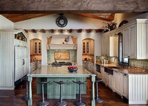 old farm country style kitchen design best home gallery wall mounted glass door cabinets with built in stoves oven