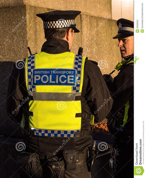 Two Officers by Transport Officers Editorial Stock Photo