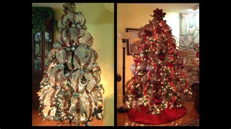 maneras de adornar el arbol de navidad como decoro mi arbol de navidad con cintas