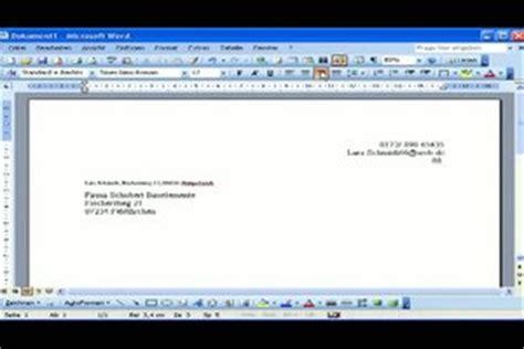 Vorlage Word Sichtfenster vorlage word sichtfenster 28 images briefkopf vorlage