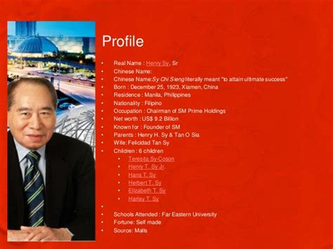 biography of henry sy henry sy ppt final