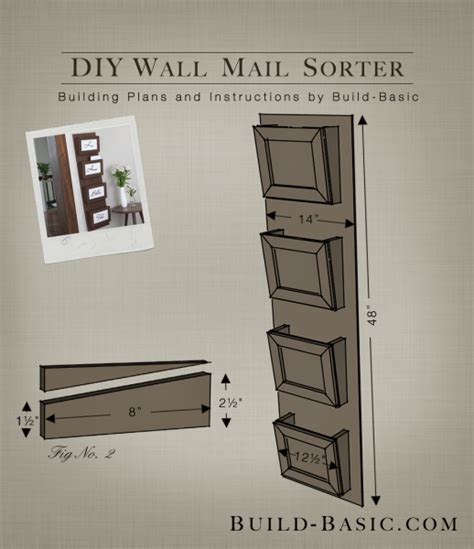 build  diy wall mail sorter building plans