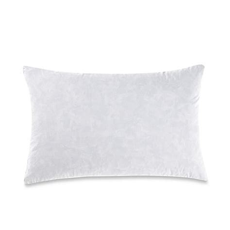 bed bath and beyond feather pillow feather throw pillow insert in white bed bath beyond