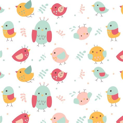 cute pattern vector free cute bird pattern vector free download