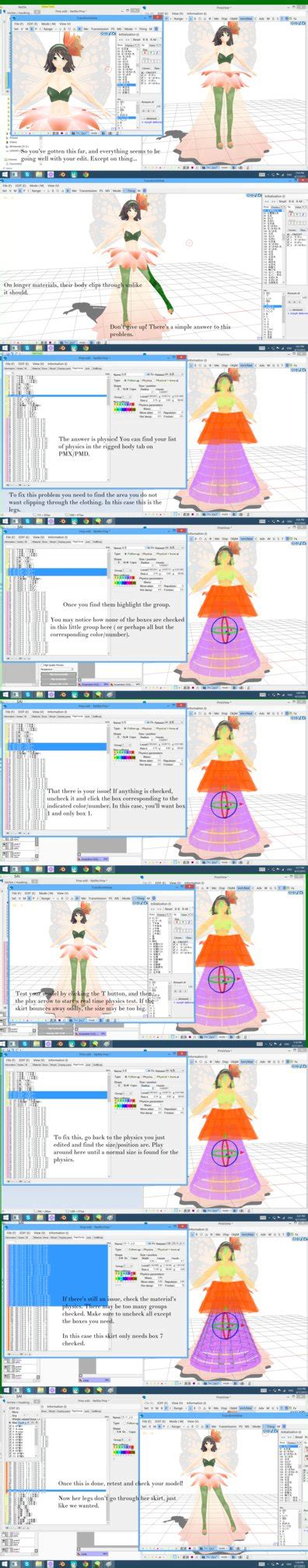mmd remove floor mmd tutorial fixing clipping issues by k channnn