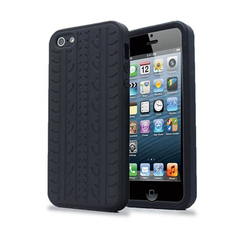 Armor Guard Iphone 5 5s Se Black Soft Hybrid Casing black tyre tread soft silicone rubber protector cover for iphone se 5s 5 ebay
