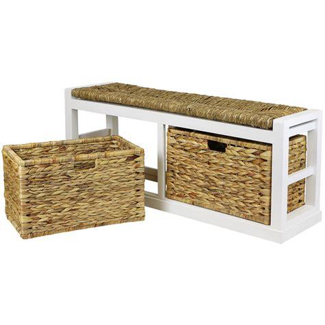 extra wide storage bench hartleys extra wide 2 drawer hallway storage bench wicker