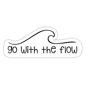 Go With The Flow Sticker quot go with the flow wave quot stickers by abbybusis redbubble