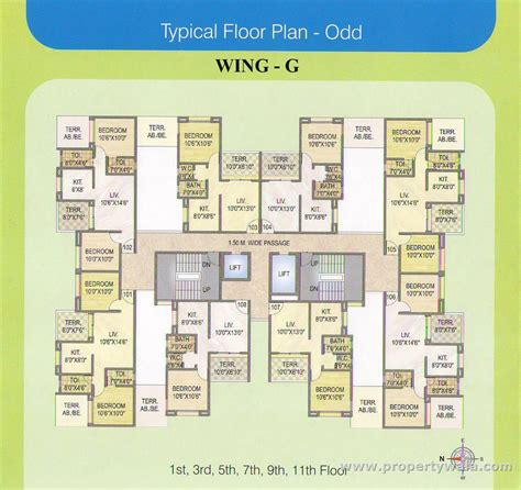typical floor plan ellora nakshatra i land moshi pune apartment flat