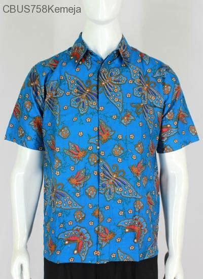 Kemeja Baju Lengan Pendek Biru Pendek Murah Blue sarimbit kemeja motif kupu biru kemeja lengan pendek murah batikunik