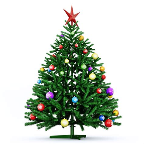 christmas tree green 2016 3d model max obj fbx mtl