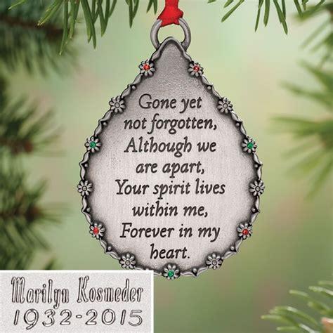 personalized memorial ornament walter drake