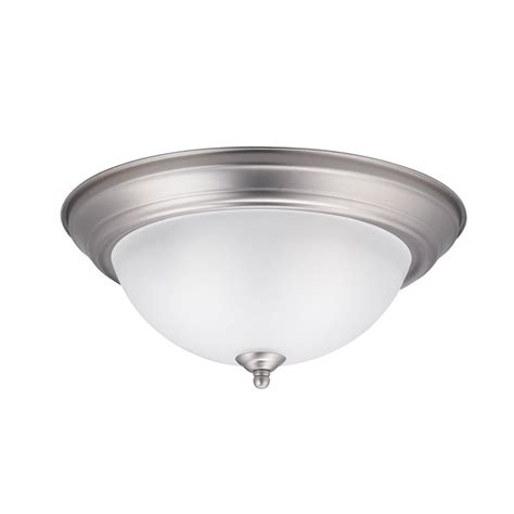 shop kichler lighting 13 25 in w brushed nickel ceiling