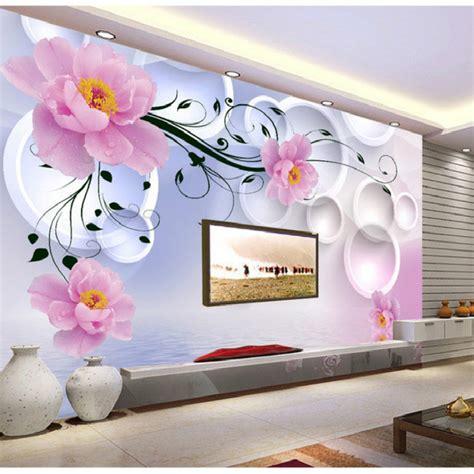 Wallpaper Murals 3d Stereoscopic Soft Bag Roses Living Room Tv Wa large flower wall murals peenmedia