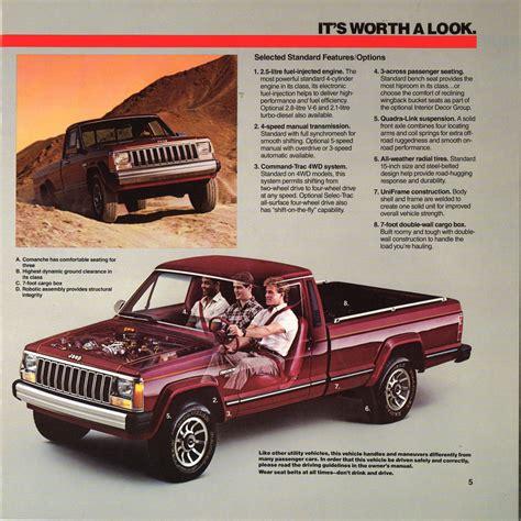 jeeps  load lugger  comanche brochure hemmings