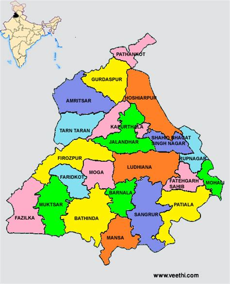 map of punjab punjab about punjab veethi