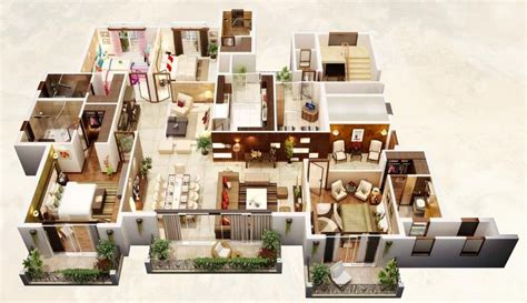 home layouts 4 bedroom apartment house plans