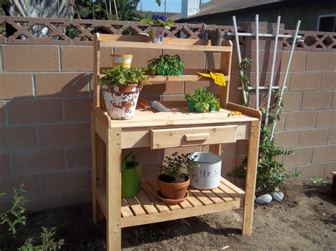 outdoor potting benches find out the beneficial of outdoor potting bench outdoor