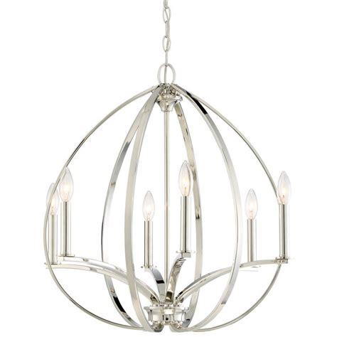 tilbury light minka lavery tilbury 6 light polished nickel chandelier
