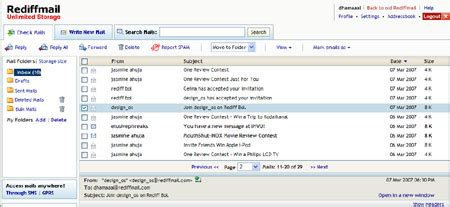 Rediffmail Email Id Search Rediffmail Gets Unlimited Email Storage Space Just Like The Infinite Techshout