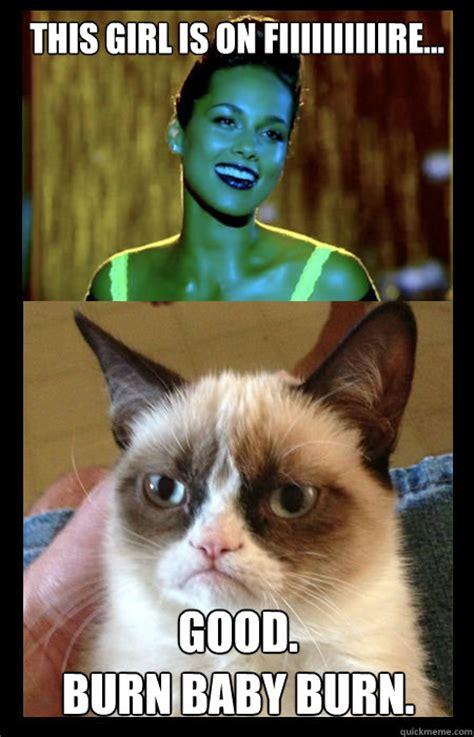 Alicia Keys Meme - grumpy cat and alicia keys memes quickmeme