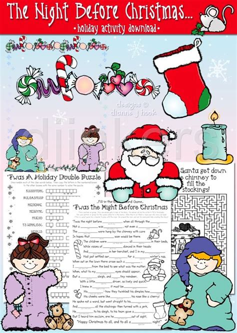free printable christmas games for the classroom a printable christmas activity with clipart by dj inkers