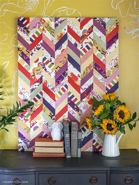 Decoupage Fabric On Canvas - decoupage chevron fabric mod podge rocks
