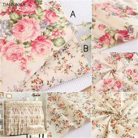 bedding fabric choose size 100 cotton fabric twill flower fabric diy for