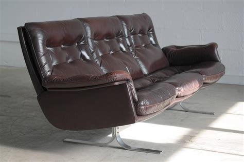 Patent Leather Sofa by Arne Norell For Vatne Sofa In Patent Leather And
