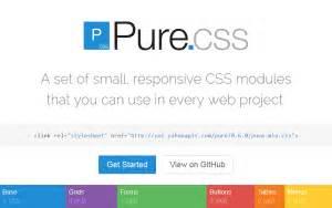 yahoo pure layout yahoo pure css framework drupal org