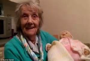 annabelle doll used in maxine daniel s grandmother with dementia is given a baby