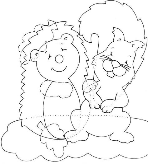 autumn animals coloring page autumn animals coloring 2 171 preschool and homeschool