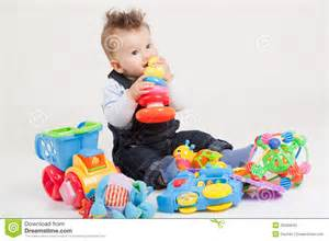 Baby playing with toys stock photos image 35250643