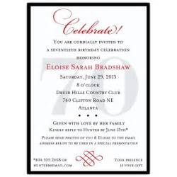 Dinner Party Agenda - classic 70th birthday celebrate party invitations paperstyle
