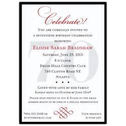 3 fantastic 70th birthday party invitations wording