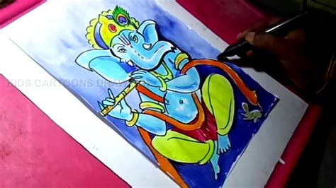 drawing color how to draw lord ganesha color drawing