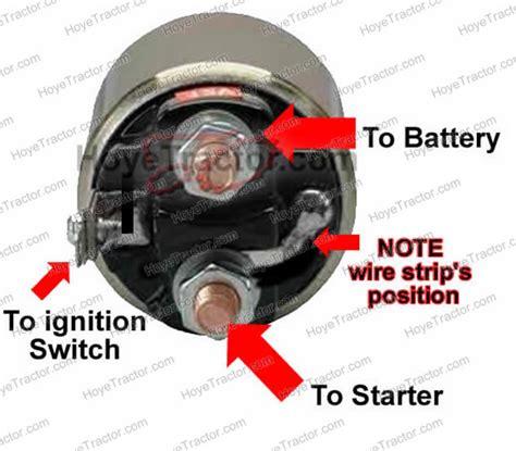 starter solenoid wiring