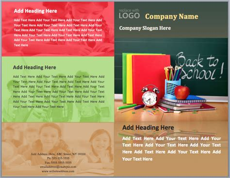Back to School Brochure Template   Format & Template