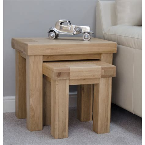 two coffee tables living room alaska nest of two coffee tables set solid oak modern