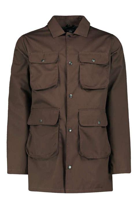 Jaket Parka Canpas Poket Zipper boohoo mens canvas 4 pocket utility jacket ebay