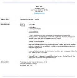 sample secretary resume resume maker resume software