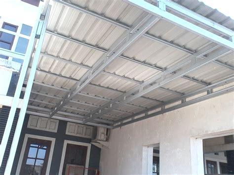 Stempel Galvalum Baja Ringan Alumunium pasang rangka atap baja ringan untuk hemat biaya
